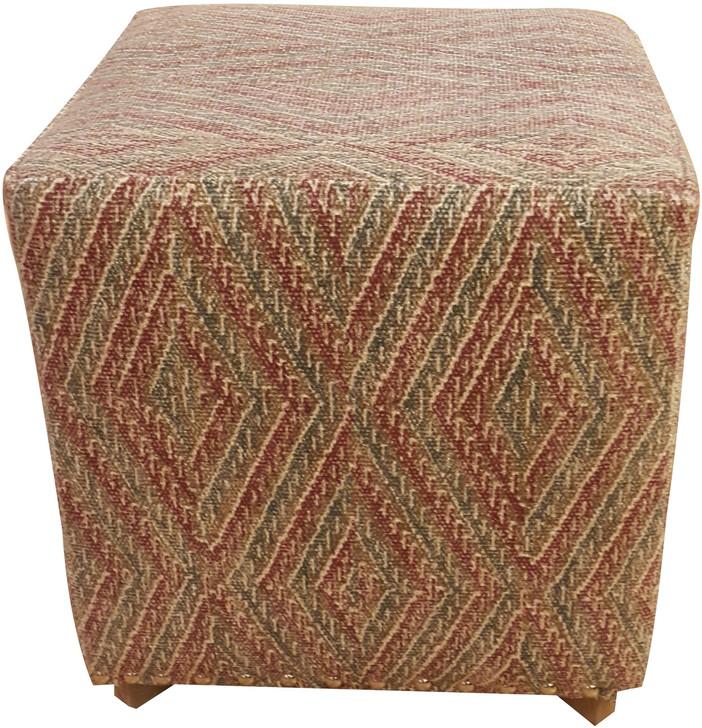 Fabric Square Ottoman Design C