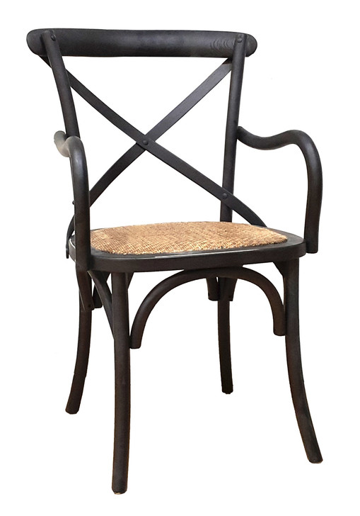 Allan Bistro Chair With Arms in Black
