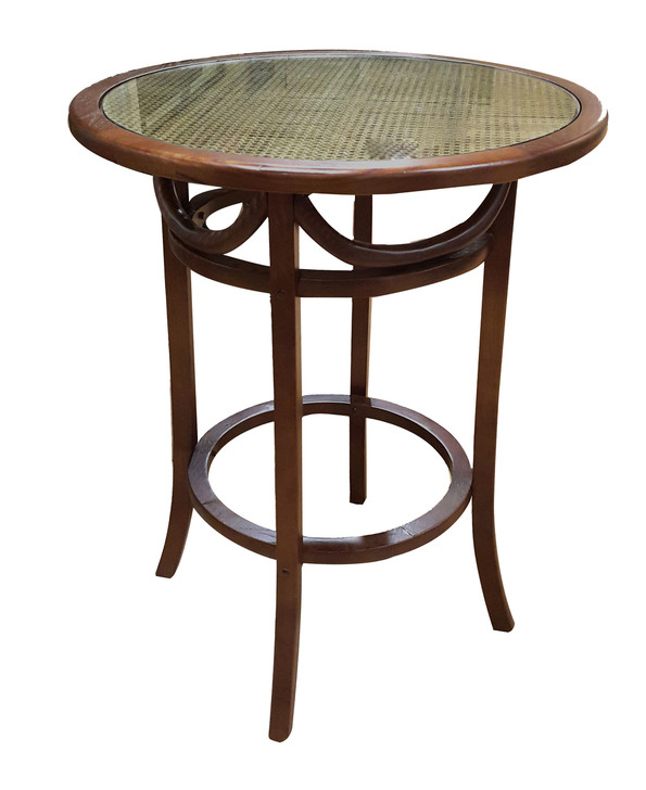 Circular Bar Table - Glass Top