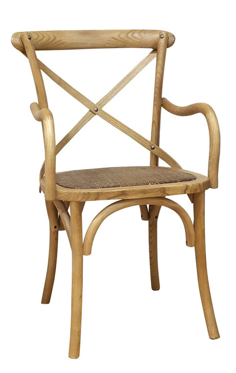 Allan Bistro Chair With Arms in Natural