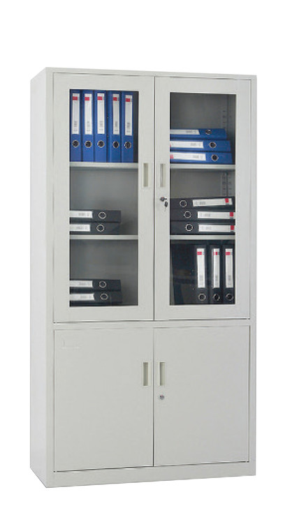 HiLine Clear Door Filing Cabinet