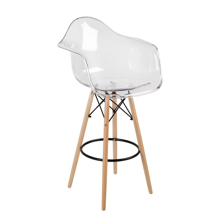 Retro Mia Style Bar Chair With Arms in Various Colours