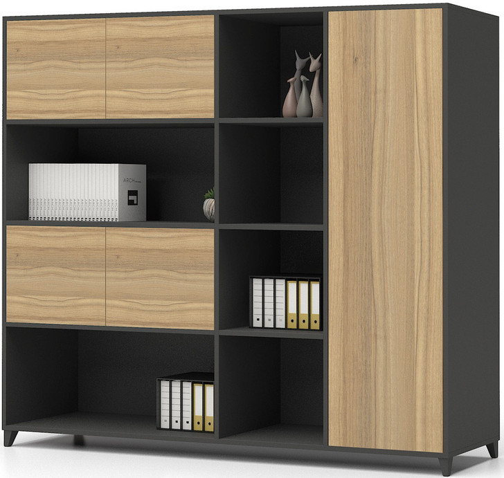 Brooklyn Modern Cabinet in Brown Oak - OUT OF STOCK