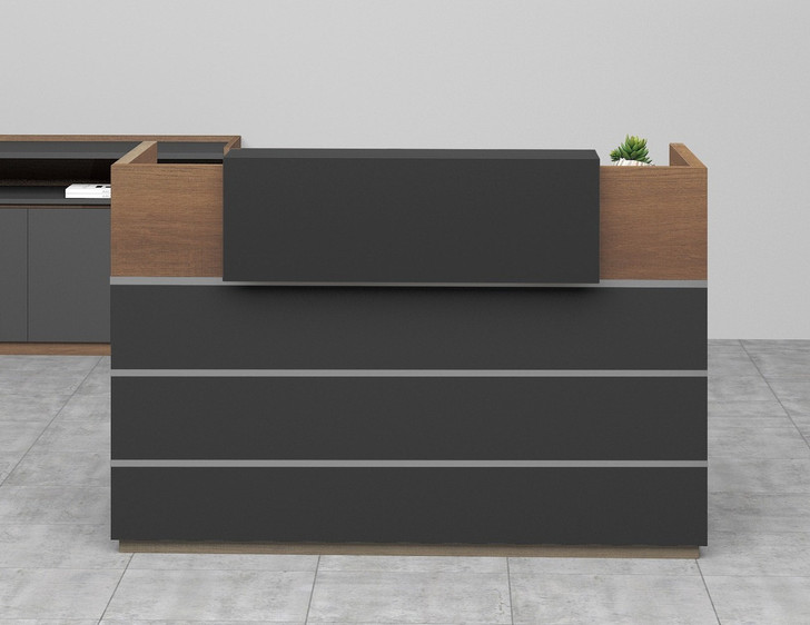 Brooklyn Reception Counter In Brown Oak - OUT OF STOCK