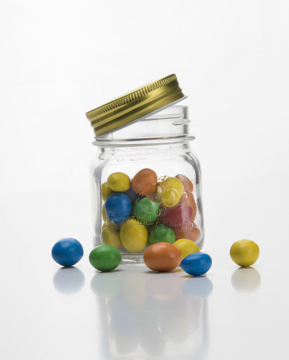 Glass Jar With Screw Top Lid 150ml - OUT OF STOCK