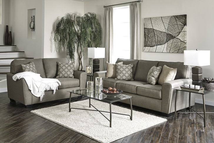Calicho 7 Seater Sofa Set in Cashmere Fabric