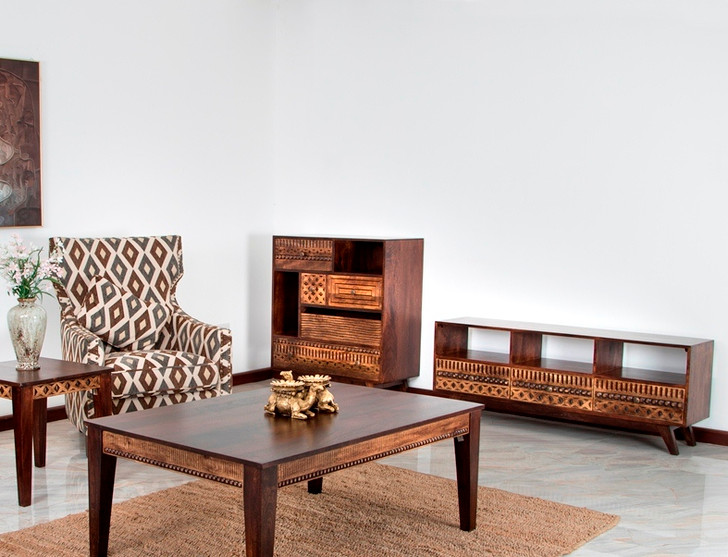Nomad 3 Drawer Entertainment Unit - OUT OF STOCK