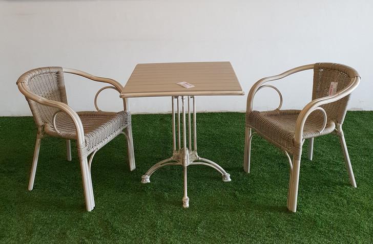 Cadiz Square Bistro Table In Milky White