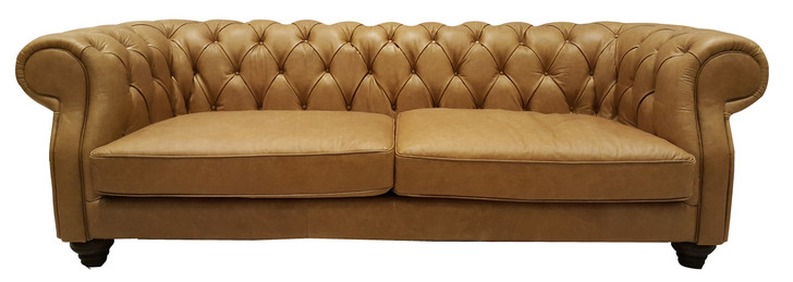 Churchill Chesterfield In Columbia Brown Leather (S0311-3D)