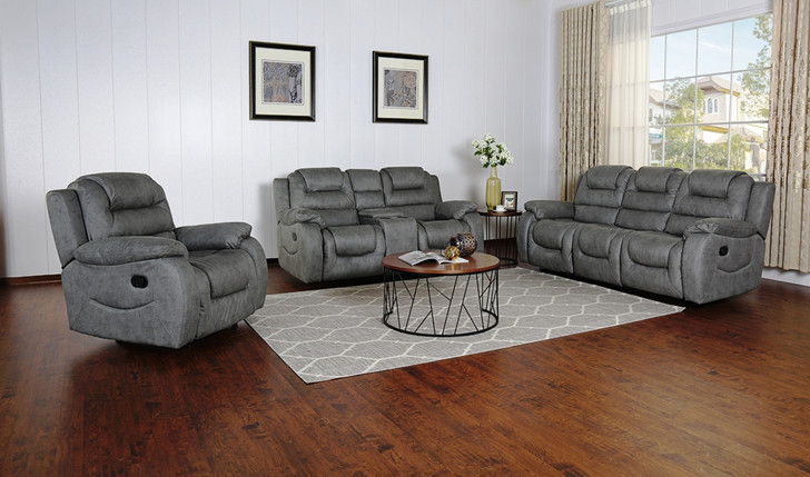 Athens Recliner 6 Seater Recliner in Gray - OUT OF STOCK