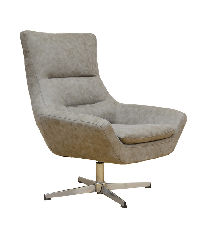 York Swivel Accent Chair in Gray - OUT OF STOCK
