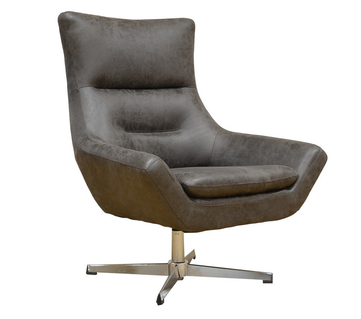 York Swivel Accent Chair in Smoke Gray - OUT OF STOCK