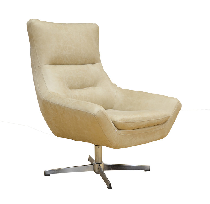 York Swivel Accent Chair in Beige