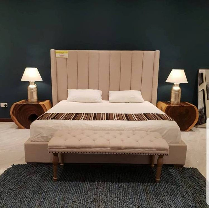 Modena Shelter Bed In Beige - King Size