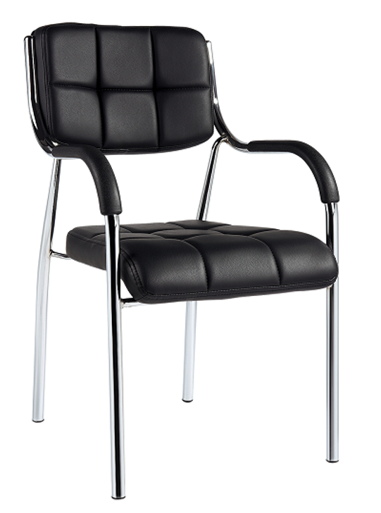 STACKABLE VISITORS CHAIR  WITH ARMS - TQ-C-05-1