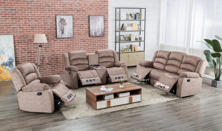 Parga 6 Seater Recliner in Mocha - OUT OF STOCK