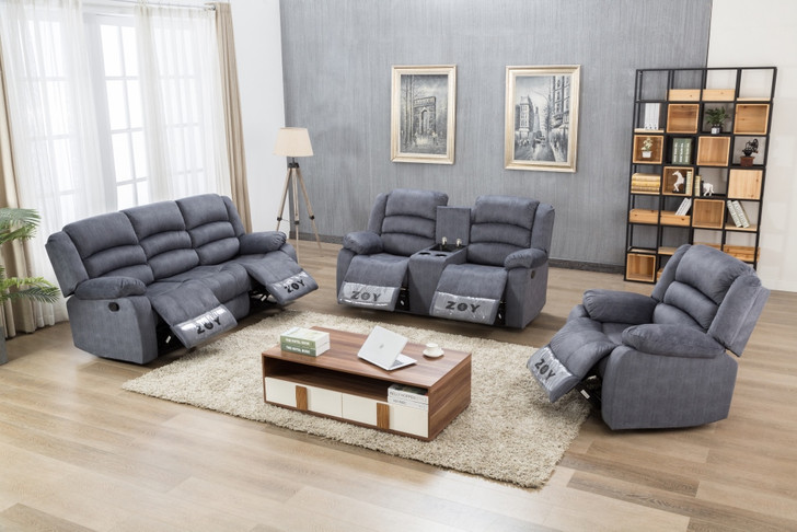 Parga 6 Seater Recliner in Navy