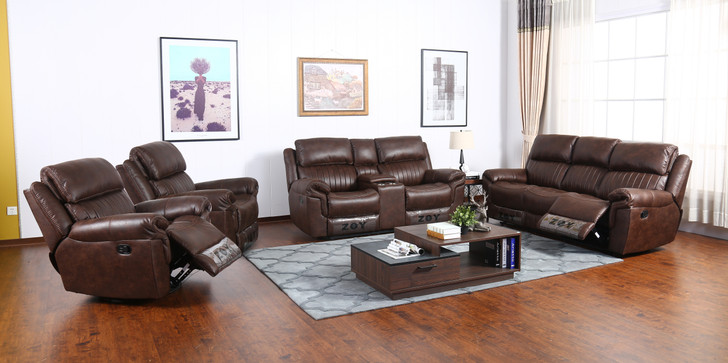Arcadia 6 Seater Recliner in Brown