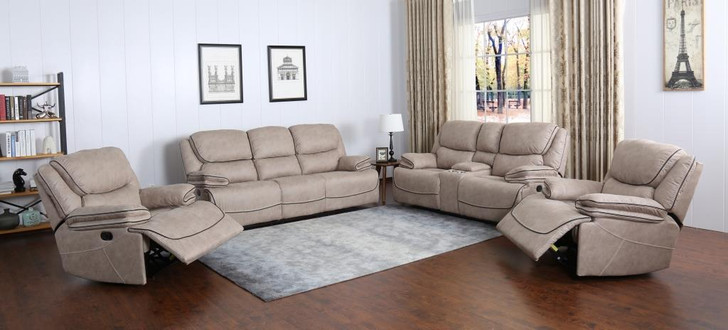 Sparta 7 Seater Recliner In Buff - OUT OF STOCK