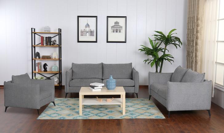 Trinity 6 Seater Sofa Set In Gray