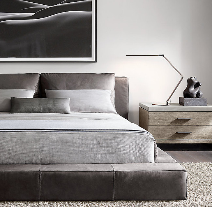 Cloud Platform Bed In Grey - Queen Size  -  OUT OF STOCK