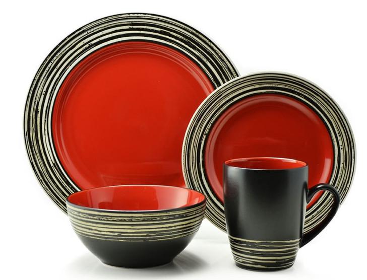 Thomson Pottery 16pc Dinner Set - Tahiti Carmine