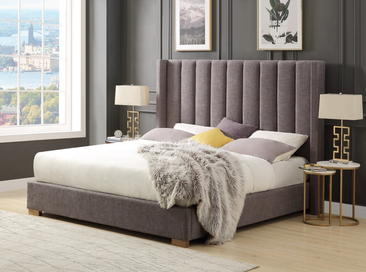 Modena Shelter Bed In Grey - Queen size