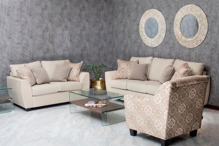 Denver Dream 7 Seater Sofa Set - Beige