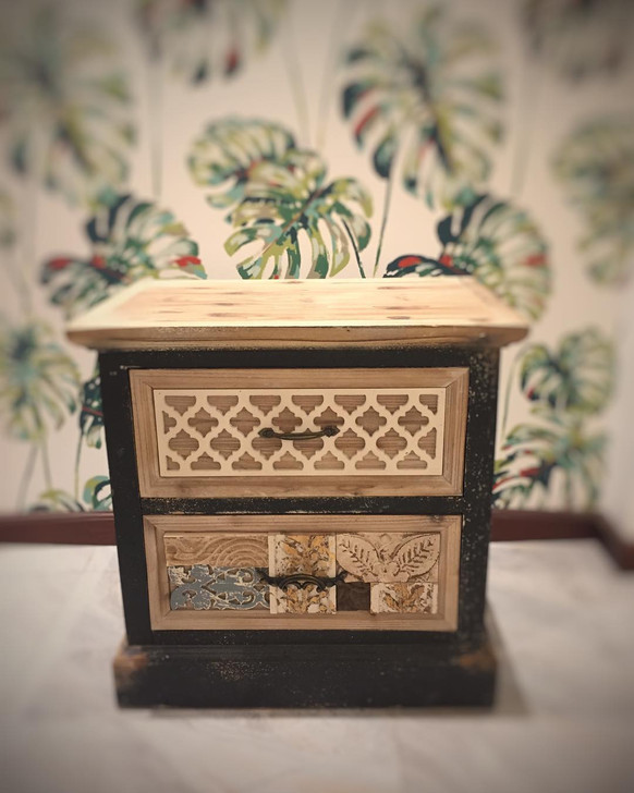 FQ - Patchwork Bedside Cabinet (RHS) - OUT OF STOCK