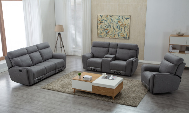 Audrey 6 Seater Recliner In Gray