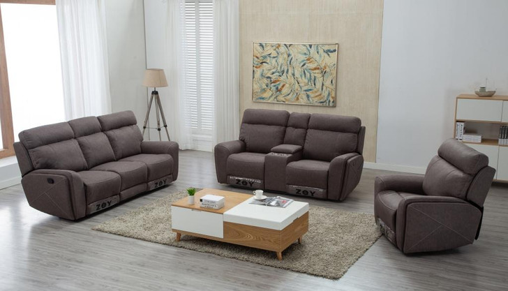 Audrey 6 Seater Recliner In Taupe