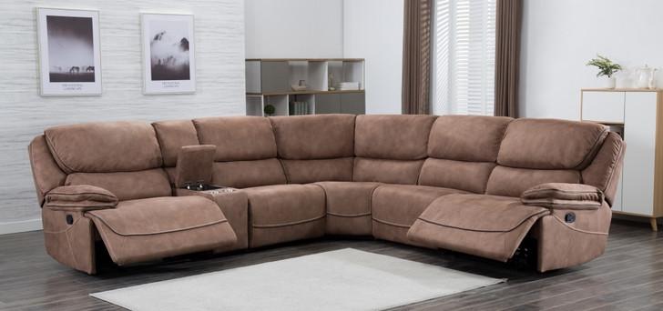Sparta Corner Sofa in Mocha