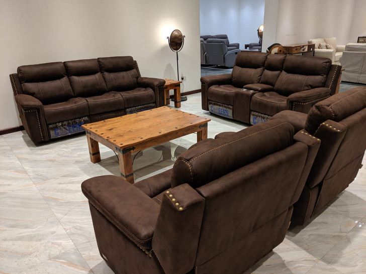 Nevada 7 Seater Recliner In Brown - OUT OF STOCK