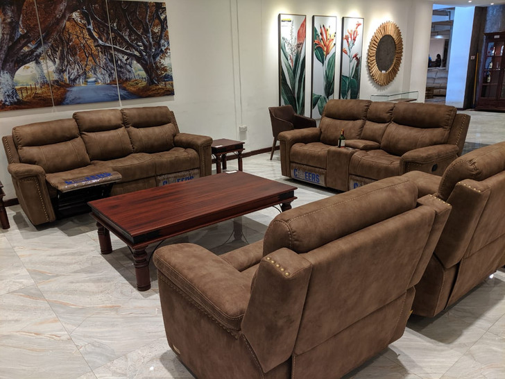 Nevada 7 Seater Recliner In Mocha - OUT OF STOCK