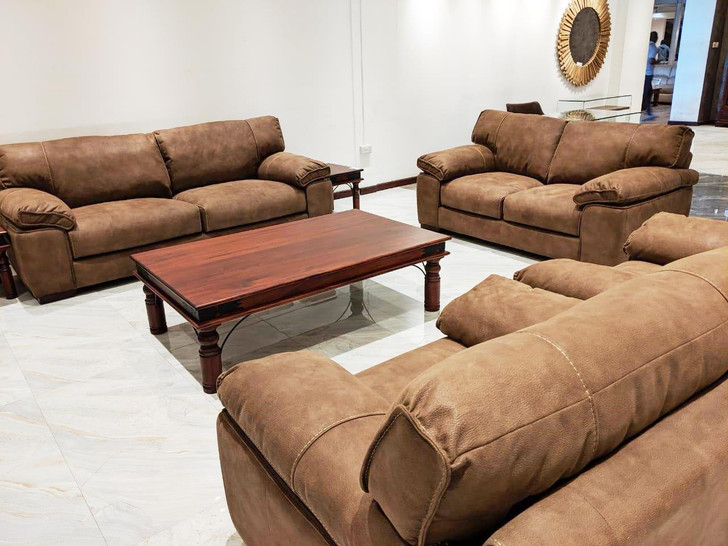 Colossus 7 Seater Sofa Set in Mocha - OUT OF STOCK