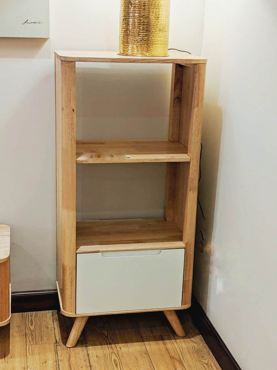 YG3605 1 Drawer 2 Colums Cabinet In Natural Option