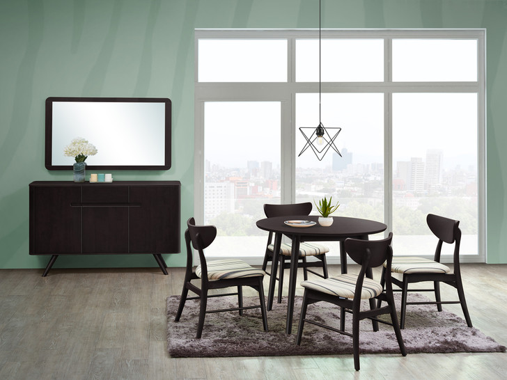 Osaka 4 Seater Round Dining Set in Cappuccino-OUT OF STOCK