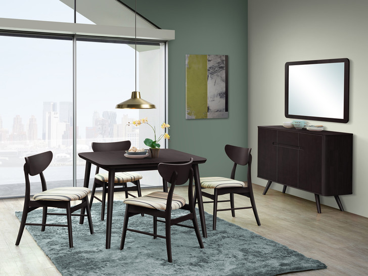 Athens 4 Seater Square Dining Set in Cappuccino - OUT OF STOCK