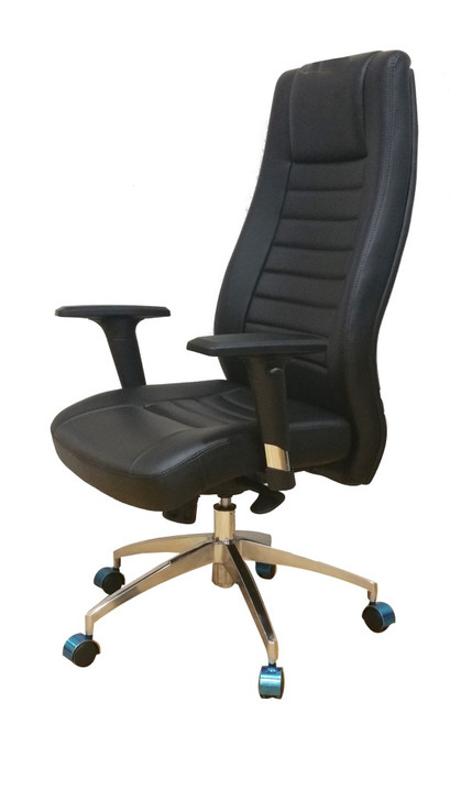 Executive HB Chair in Black PU - H2201