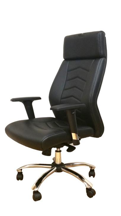 Executive HB Chair in Black PU - H2200