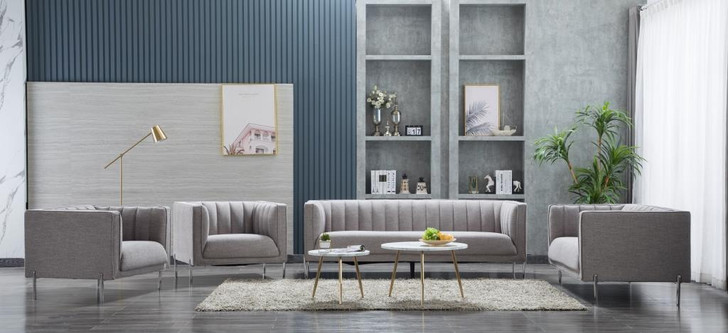 Stella 6 Seater Sofa in Gray - OUT OF STOCK