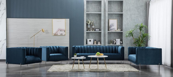 Stella 6 Seater Sofa in Blue-OUT OF STOCK