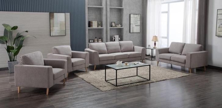 Chloe 7 Seater Sofa in Light Gray