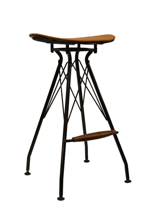 Thomas Bar Stool in Glossy Black