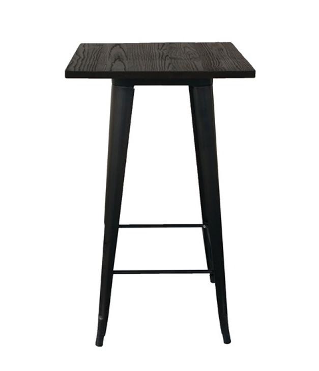 Bistro Bar Table in Sanded Black