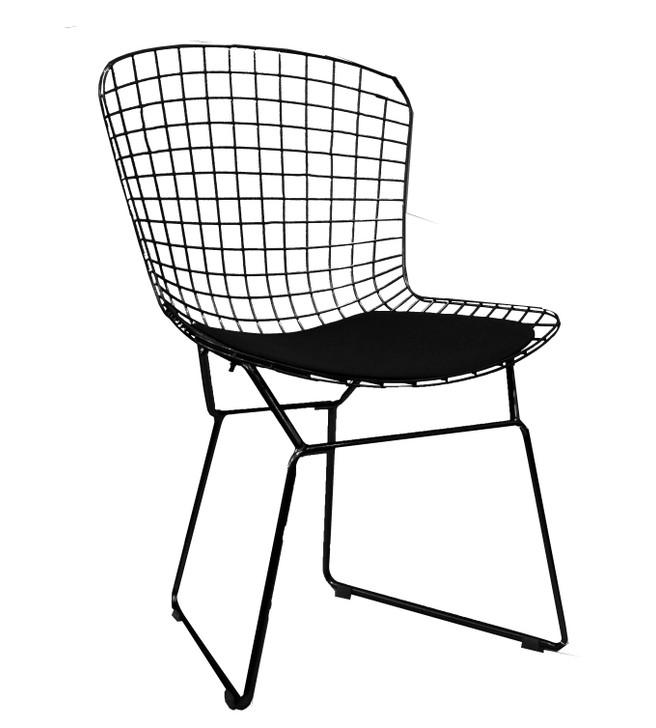 Replica Bertoia Bistro Chair In Black-OUT OF STOCK