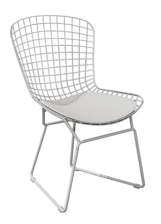 Replica Bertoia Bistro Chair In White