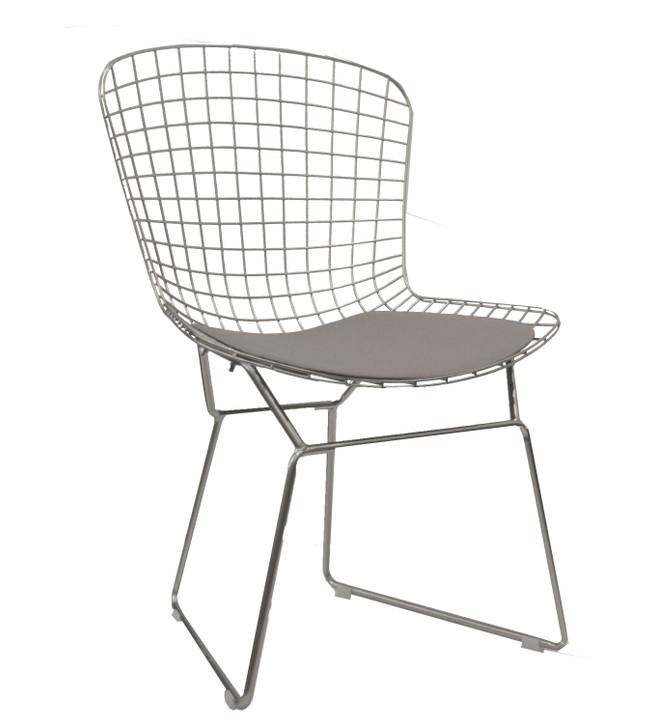 Replica Bertoia Bistro Chair In Chrome