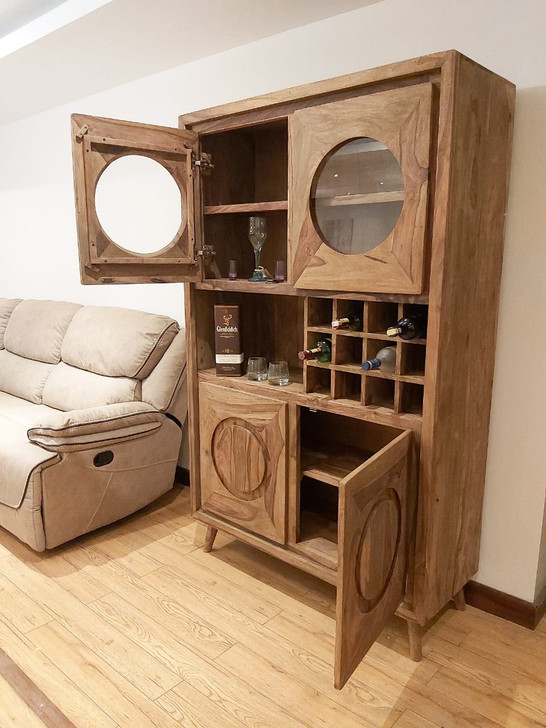Escape Drinks Cabinet in Sheesham