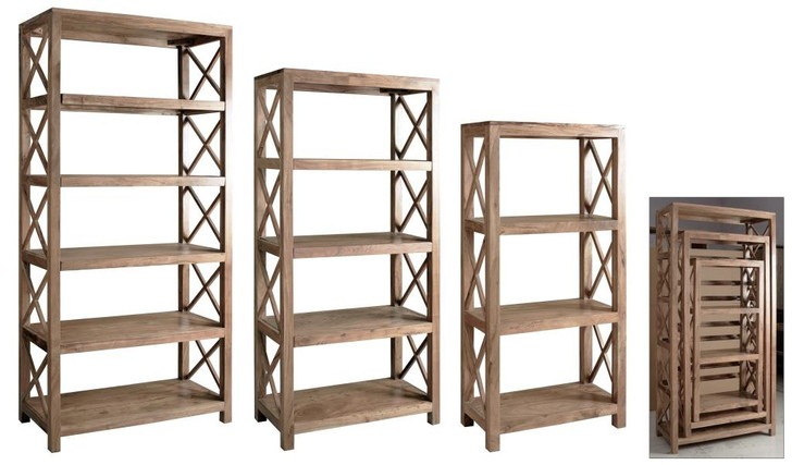 Jalapeno Small Tall Bookcase in Acacia